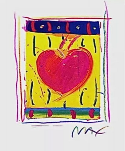 Heart Series VI by Peter Max at