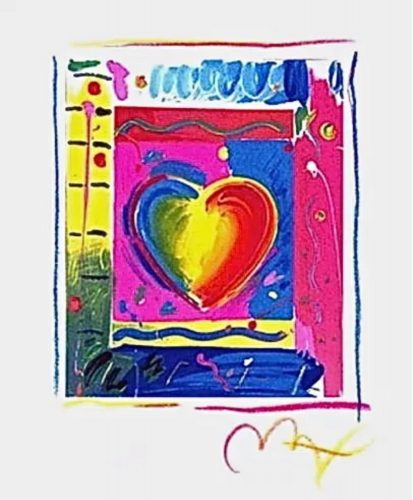 Heart Series III by Peter Max at