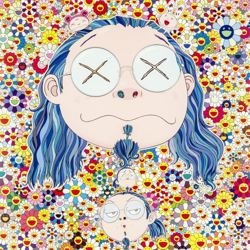 Self-portrait of the Distressed artist by Takashi Murakami at