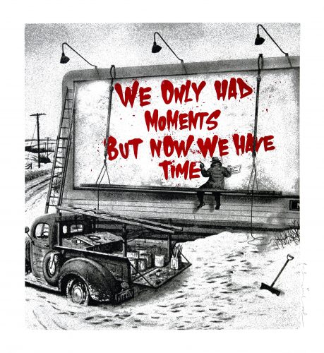 Now Is The Time (Red) by Mr. Brainwash