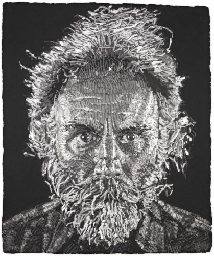 Lucas Paper/Pulp by Chuck Close at Surovek Gallery