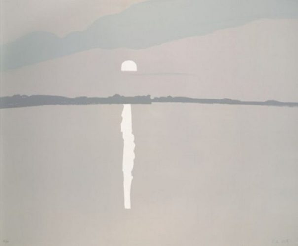 Sunset:  Lake Wesserunsett 2 by Alex Katz at Surovek Gallery
