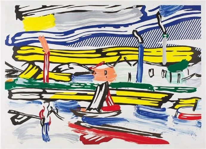 The River from the Landscape Series by Roy Lichtenstein at Surovek Gallery