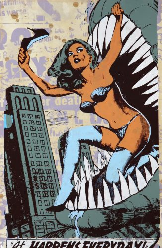 It Happens Everyday by Faile at
