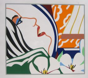 """""""Bedroom Face with Orange Wallpaper"""" by Tom Wesselmann at"""