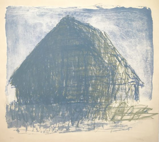 Barn Silhouette by Wolf Kahn at