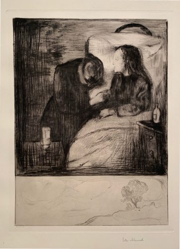 Das Kranke Kind (The Sick Child) by Edvard Munch at
