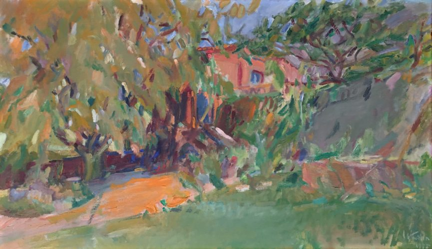 My House in Tepoztlan by Wolf Kahn at