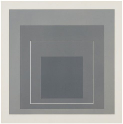 WSL II (From the white line Squares, Series I) by Josef Albers