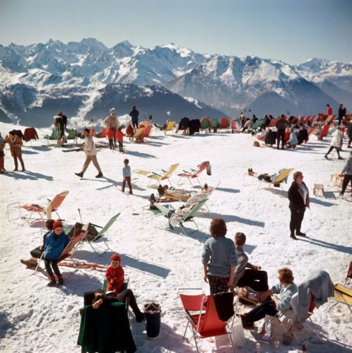 Verbier Vacation Slim Aarons Perspex Face Mount by Slim Aarons at