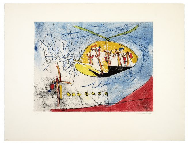 L'Helicoptère by Roberto Matta at
