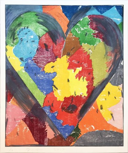 Using White Over Black by Jim Dine
