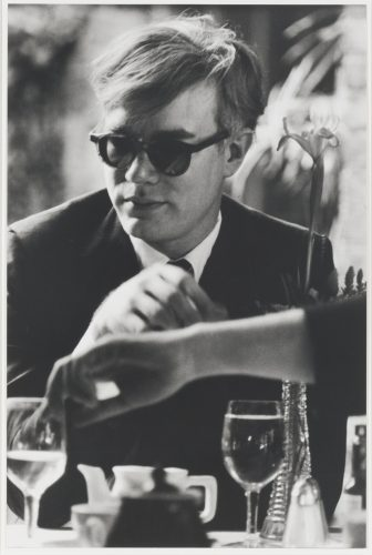 Andy Warhol (at table) by Dennis Hopper at