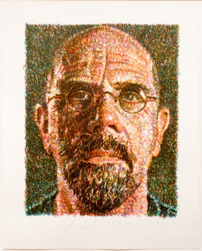 Self-Portrait by Chuck Close at