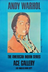 The American Indian Series: Ace Gallery (Double Signed) by Andy Warhol at Graves International Art