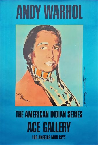 The American Indian Series: Ace Gallery (Double Signed) by Andy Warhol