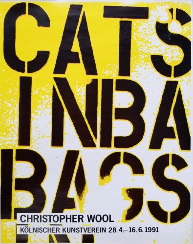 Kölnischer Kunstverein (Cats in Bags, Bags in River) by Christopher Wool at