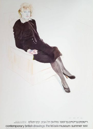 Celia, Paris, Black Stockings by David Hockney