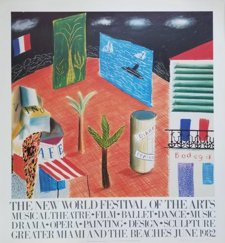 The New World Festival of the Arts (Signed) by David Hockney at