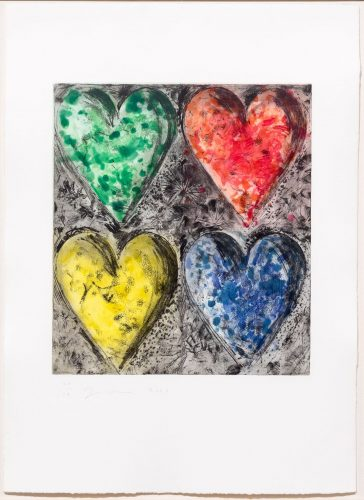 Watercolor in Galilee by Jim Dine at Leslie Sacks Gallery (IFPDA)