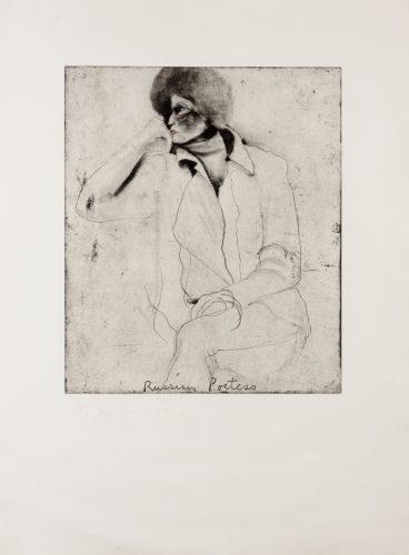 Russian Poetess, from Eight Sheets from an Undefined Novel by Jim Dine at