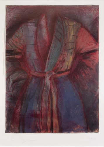 Red Robe in France by Jim Dine at Leslie Sacks Gallery (IFPDA)