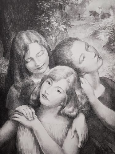 Three Friends by George Laurence Nelson at