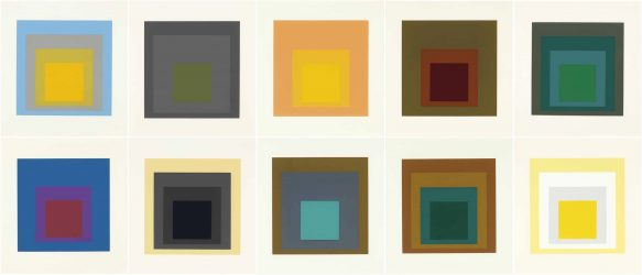 Homage to the Square: Ten Works by Josef Albers (Complete Portfolio) by Josef Albers at Graves International Art