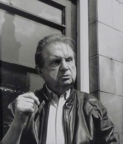 Francis Bacon outside French House Pub by Daniel Farson at