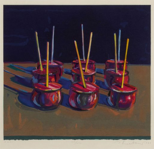 Candy Apples by Wayne Thiebaud at