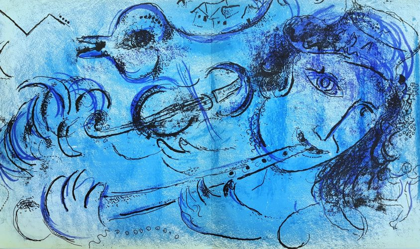 The Flute Player by Marc Chagall at Marc Chagall