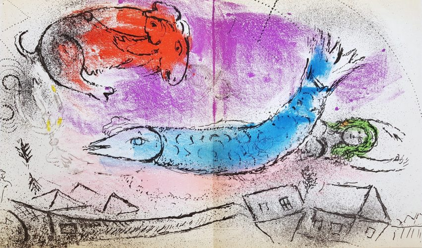 The Blue Fish by Marc Chagall at Marc Chagall
