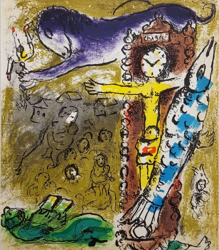 Christ in the Clock by Marc Chagall at Marc Chagall