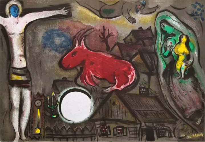 Mystical Crucifixion by Marc Chagall at Marc Chagall