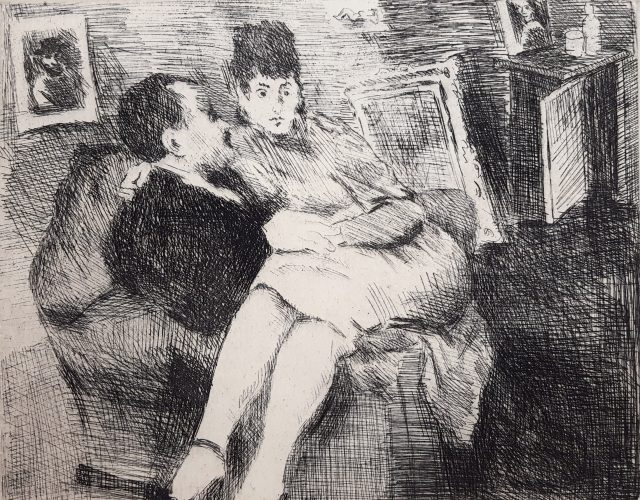 Intimate Interior by Raphael Soyer at