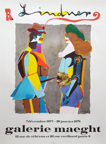 Expo 1977 (Lovers with a Tiger) by Richard Lindner at