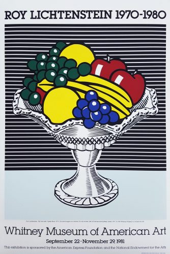 Whitney Museum of American Art (Still Life with Crystal Bowl) by Roy Lichtenstein