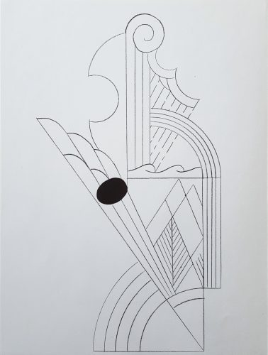 Illustration for 'Romanze, or The Music Students' (I) & (II) by Roy Lichtenstein