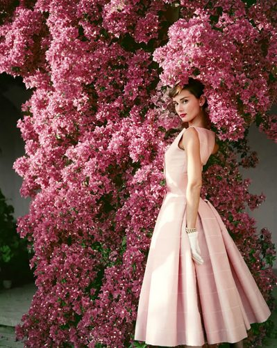 Audrey Hepburn In Pink Limited Estate Stamped Edition by Norman Parkinson