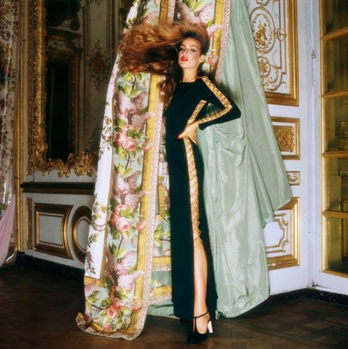 Jerry Hall, wearing Givenchy for Vogue Limited Estate Stamped Edition by Norman Parkinson at