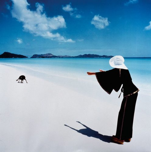 Model Apollonia von Ravenstein in the Seychelles Limited Estate Stamped Edition by Norman Parkinson at