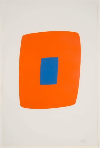 Orange with Blue by Ellsworth Kelly