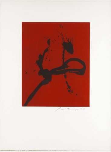 Gesture IV by Robert Motherwell at Leslie Sacks Gallery (IFPDA)