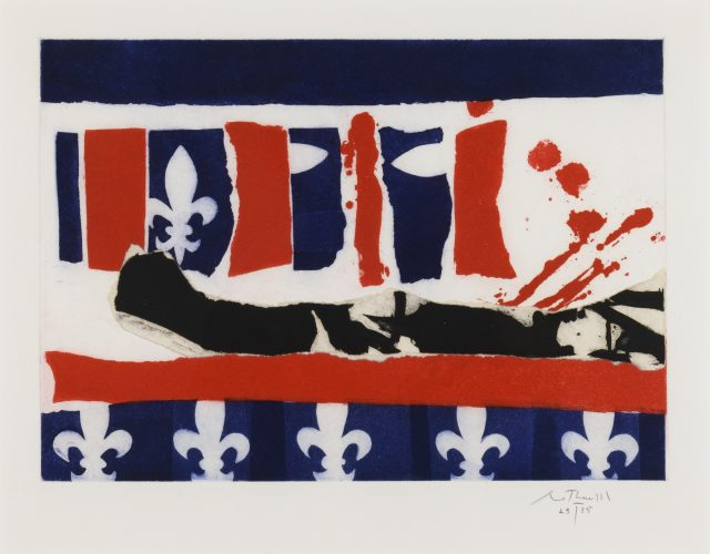 French Revolution Bicentennial II by Robert Motherwell at Leslie Sacks Gallery (IFPDA)