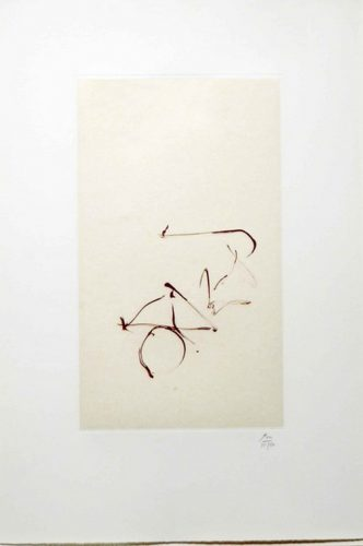Return, from Three Poems by Octavio Paz by Robert Motherwell at