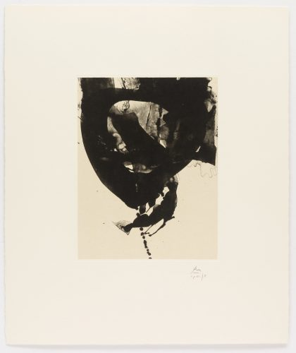 Nocturne VIII, from Three Poems by Octavio Paz by Robert Motherwell at
