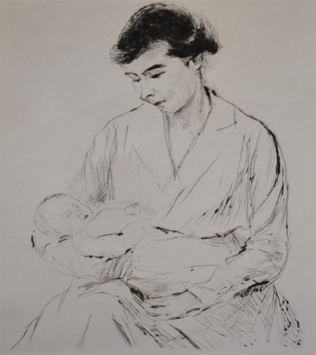 Mother and Child | Mutter und Kind, 1917 by Max Liebermann at