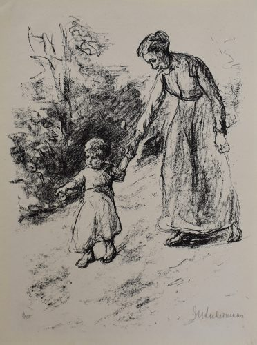 Governess with Child | Wärterin mit Kind, 1919 by Max Liebermann at
