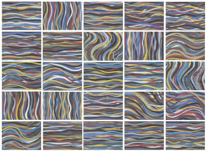 Brushstrokes: Horizontal and Vertical by Sol LeWitt at Galerie Raphael
