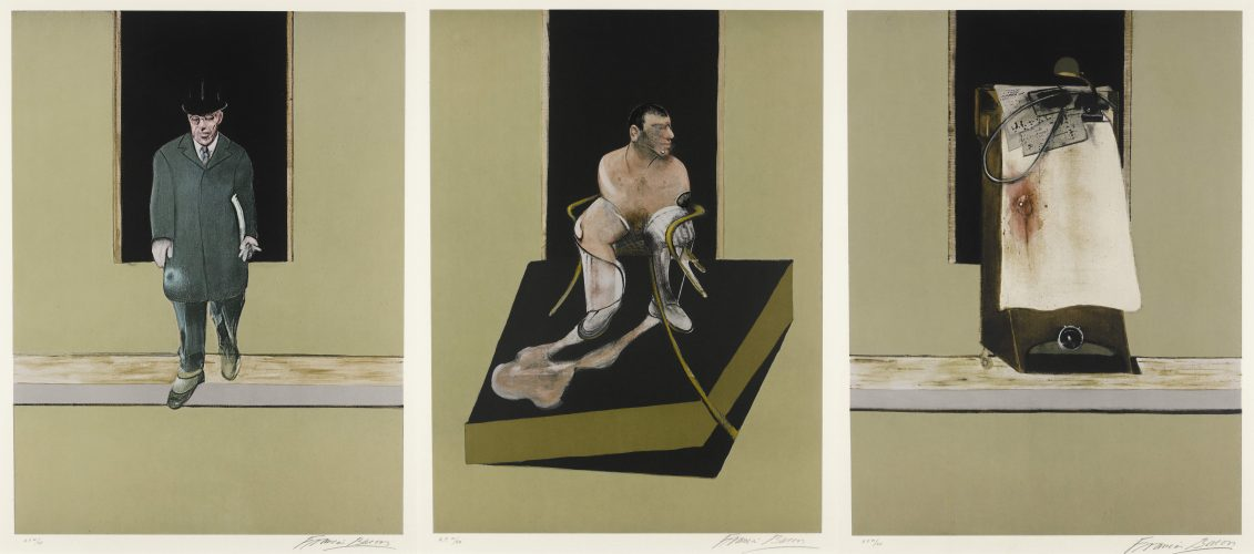 Triptych 1986-1987 by Francis Bacon at